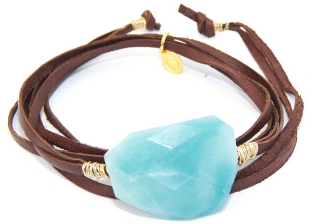 ABN10RS/04K/G AMAZONITE BROWN